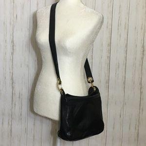 Paradox Black Leather Shoulder Bag/Satchel